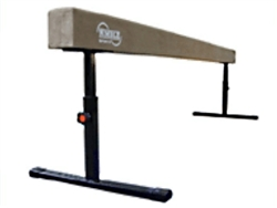 "High Quality Tan 8' Gymnastics Balance Adjustable 14""-24"" High Beam"