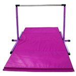 High Quality 3'-5' Purple Adjustable Bar with Pink 8' Folding Mat