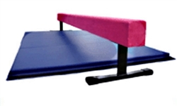 "High Quality Pink 8' x 12"" Balance Beam with Blue 6' Folding Mat"