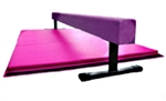 "High Quality Purple 8' x 12"" Balance Beam with Pink 6' Folding Mat"