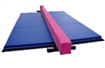 High Quality Pink 8' Balance Beam with Blue 6' Folding Mat