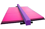 High Quality Purple 8' Balance Beam with Pink 6' Folding Mat