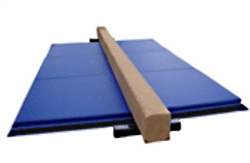 High Quality Tan 8' Balance Beam with Blue 6' Folding Mat
