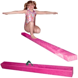 High Quality Pink 8' Gymnastics Folding Beam