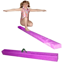 High Quality Purple 8' Gymnastics Folding Beam