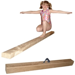 High Quality Tan 8' Gymnastics Folding Beam