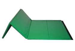 "High Quality Green 4' x 8' x 1-3/8"" Folding Panel Gymnastics Mat"