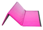 "High Quality Pink 4' x 6' x 1-3/8"" Folding Panel Gymnastics Mat"