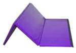 "High Quality Purple 4' x 6' x 1-3/8"" Folding Panel Gymnastics Mat"