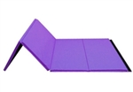 "High Quality Purple 4' x 8' x 1-3/8"" Folding Panel Gymnastics Mat"