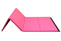 "High Quality Pink 4' x 8' x 1-3/8"" Folding Panel Gymnastics Mat"