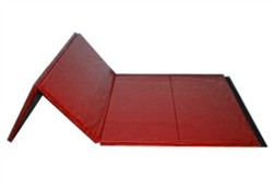 "High Quality Red 4' x 8' x 1-3/8"" Folding Panel Gymnastics Mat"