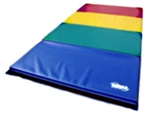 "High Quality Rainbow 4' x 8' x 1-3/8"" Folding Panel Gymnastics Mat"