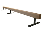 "High Quality Tan 12' Gymnastics Balance 12"" High Beam"