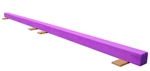 High Quality Purple 12' Gymnastics Balance Low Beam