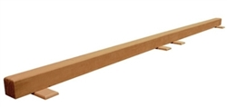 High Quality Tan 12' Gymnastics Balance Low Beam