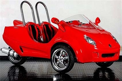 street legal scoot coupe 3 wheel trike scooter car gets 80 mpg. Black Bedroom Furniture Sets. Home Design Ideas