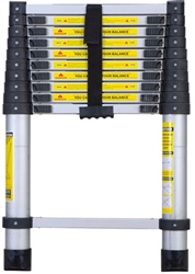 "Portable Aluminum 12.5"" Telescoping Ladder"