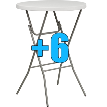 High quality package of 6 32 bar height cocktail tables for Height of cocktail tables
