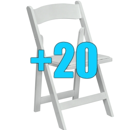 High quality package of 20 padded white wood frame folding for Good quality folding chairs