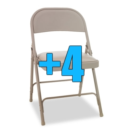 High quality package of 4 padded tan metal folding chairs for Good quality folding chairs