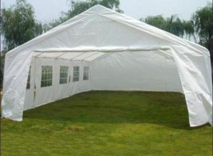20u0027 x 32u0027 large white heavy duty portable garage carport canopy party tent - Carport Canopy
