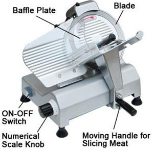 Professional Food Slicer Cheese Meat Cutter With 10 Blade