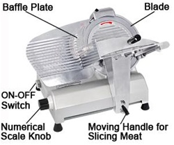"Professional Food Slicer Cheese Meat Cutter with 12"" Blade"