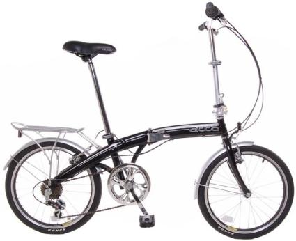 Tempest 20 Folding 6 Speed Bike With Fenders Rear Rack