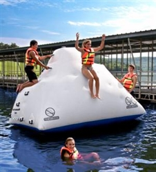 Brand New 7' Iceberg Inflatable Climbing Wall and Water Slide