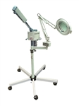 Facial Ozone Steamer w/ 5 Diopter Magnifying Lamp