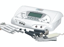 3 in 1 Facial Unit: Ultrasonic + Micro-current + Skin Scrubber