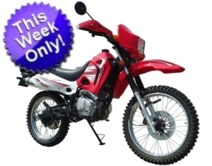 250cc Dual Sport 4 Stroke Full Size Dirt Bike - Street Legal!