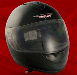 Adult Glossy Black Full Face Motorcycle Helmet (DOT Approved)