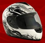 Adult Royal Silver Face Motorcycle Helmet (DOT Approved)