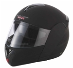 Adult Flat Black Flip Up Motorcycle Helmet (DOT Approved)