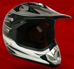Youth Gray Glossy Motocross Helmet (DOT Approved)