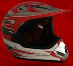 Youth Red Matte Motocross Helmet (DOT Approved)