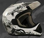 Adult Silver Motocross Helmet (DOT Approved)
