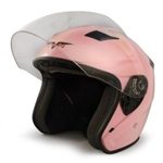 Adult Pink Metro Open Face Motorcycle Helmet (DOT Approved)