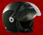 Adult Flat Black Open Face Motorcycle Helmet (DOT Approved)