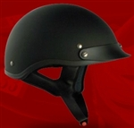 Adult Flat Black Half Helmet Cruising Helmet (DOT Approved)
