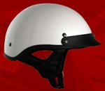 Adult White Half Helmet Cruising Helmet (DOT Approved)