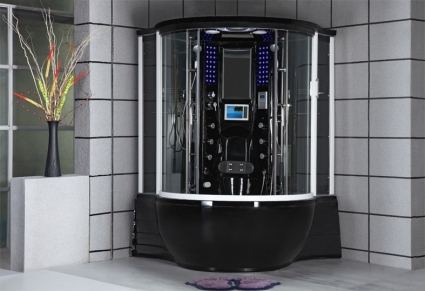 Zen Brand New Black Jetted Hot Tub Computerized Massage