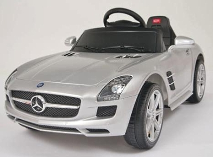 Kids ride on power wheels remote silver mercedes benz for Red mercedes benz power wheels