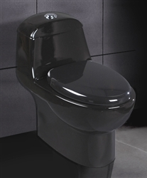 Black Ariel A-038 Contemporary European Toilet with Dual Flush