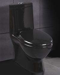 Black Ariel Contemporary European Toilet with Dual Flush
