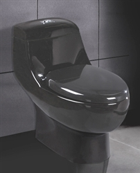 Black Ariel A-061 Contemporary European Toilet with Dual Flush