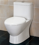 The Adriana - Ariel Platinum TB346 Contemporary European Toilet with Dual Flush