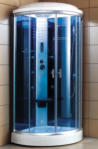 Zen Brand New Acrylic Steam Sauna Shower Corner Unit